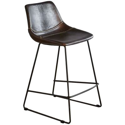 Don Buffalo Leather Counter Stool