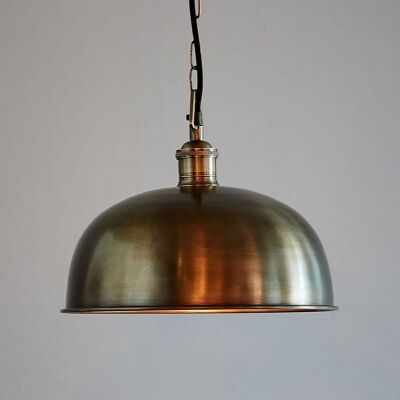 Jena Solid Brass Dome Pendant Light
