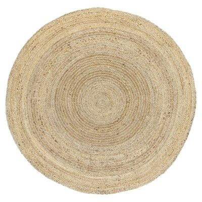 Zari Jute Round Rug, 150cm, Gold