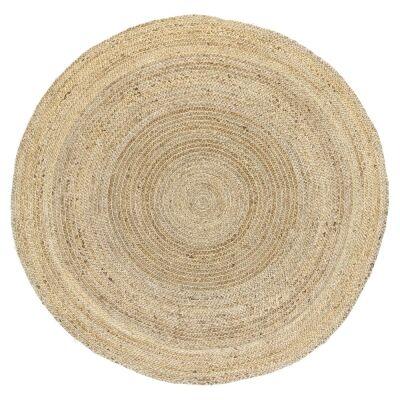 Zari Jute Round Rug, 240cm, Gold