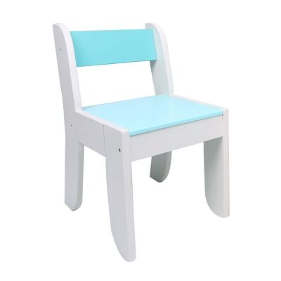 Little Owl Kids Chair, White / Blue