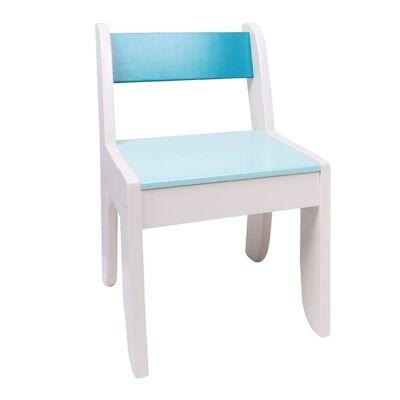 Little Hodgehog Kids Chair, White / Blue