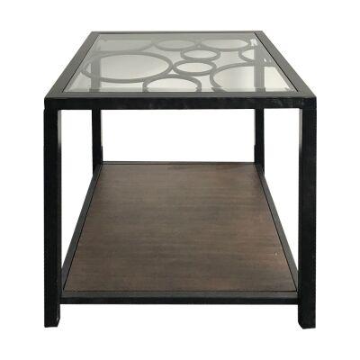 Studio Glass Topped Metal Side Table