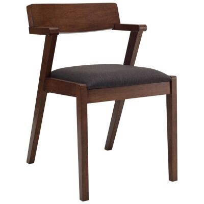 Zola Oak Timber Dining Chair, Cocoa / Mud
