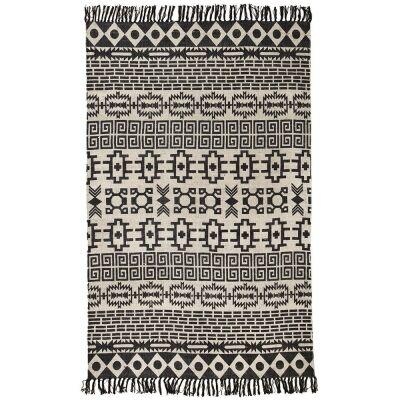 Totemic Flock Tribal Cotton Rug, 150x220cm