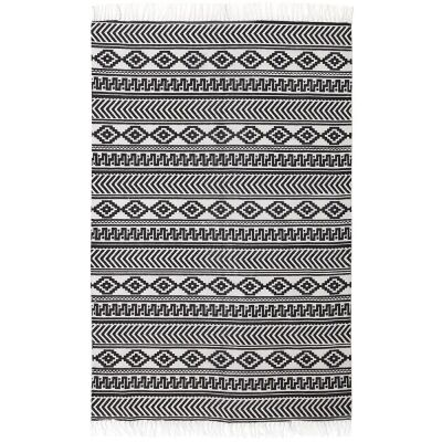 Totemic Rally Tribal Cotton Rug, 150x220cm