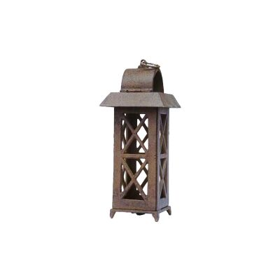 Cast Iron Garden House Lantern, Antique Rust