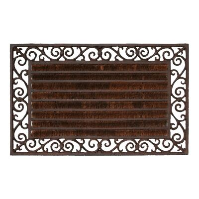 Bowen Cast Iron Garden Doormat with Coir, Antique Rust