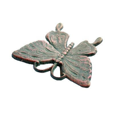 Cast Iron Butterfly Garden Ground Decor, Antique Rust