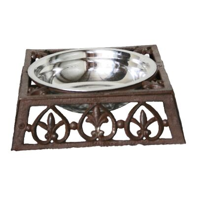 Curra Cast Iron Pet Bowl, Large, Antique Rust