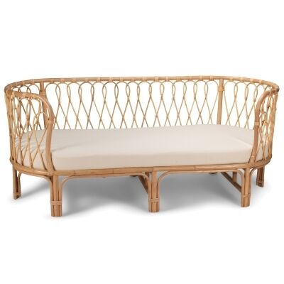 Palm Beach Rattan Sofa / Daybed, 3 Seater
