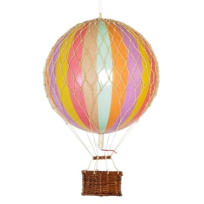 Floating The Skies Hot Air Balloon Model, Pastel Rainbow