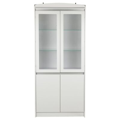 Aspen 2 Door Tall Cabinet, Matt White