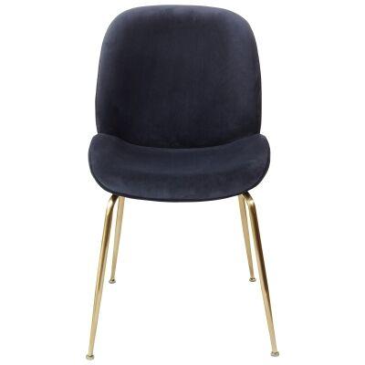 Aizel Velvet Fabric Dining Chair, Ink