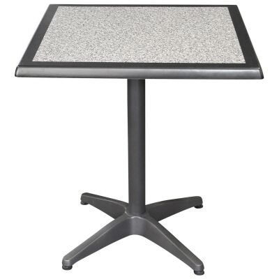 Mestre Commercial Grade Square Dining Table, 70cm, Pebble / Anthracite