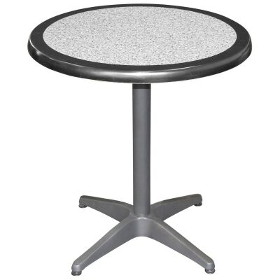 Mestre Commercial Grade Round Dining Table, 80cm, Pebble / Anthracite