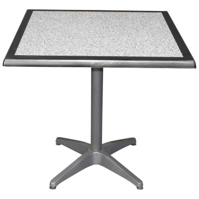 Mestre Commercial Grade Square Dining Table, 80cm, Pebble / Anthracite