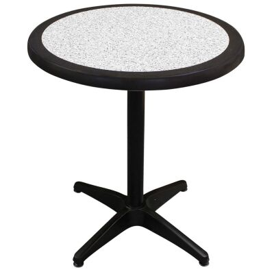 Mestre Commercial Grade Round Dining Table, 60cm, Pebble / Black