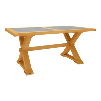 Sefton Pine Timber Trestle Dining Table, 240cm