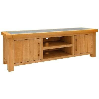 Sefton Pine Timber 2 Door TV Unit, 180cm
