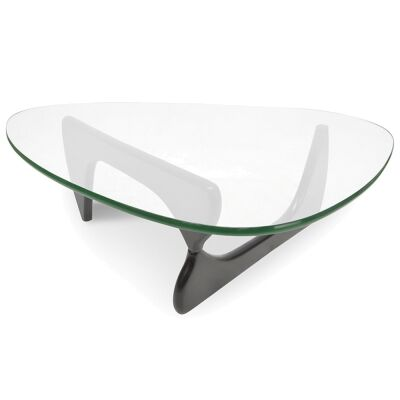 Noguchi coffee table replica - Black 20mm thick glass and 40mm thick base