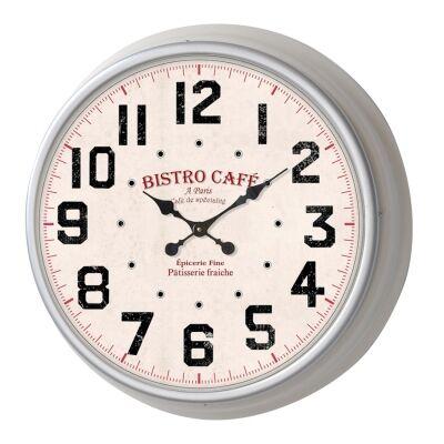 Sidney Metal Round Wall Clock, 33cm