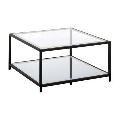 Krystof Glass & Metal Sqaure Coffee Table, 90cm