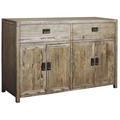 Sherwood Solid Oak Timber 4 Door 2 Drawer 140cm Sideboard