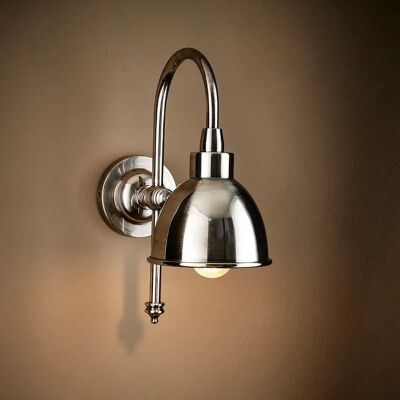Austin Metal Adjustable Wall Light, Silver
