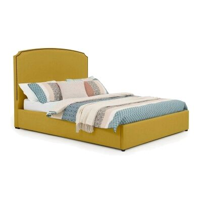 Embassy Australian Made Fabric Bed, Queen Size, Chartreuse