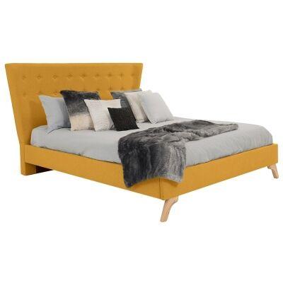 Enterprise Australian Made Fabric Bed, Queen Size, Buttercup
