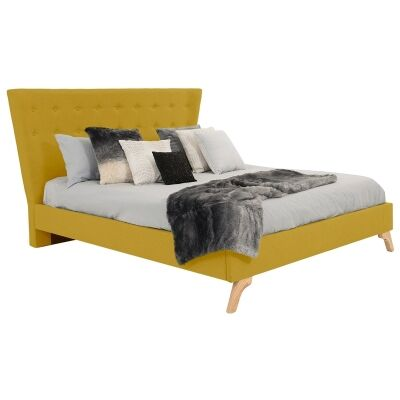 Enterprise Australian Made Fabric Bed, Queen Size, Chartreuse