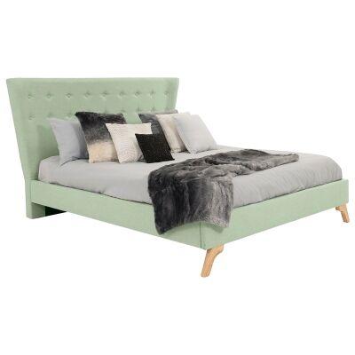 Enterprise Australian Made Fabric Bed, King Size, Duckegg