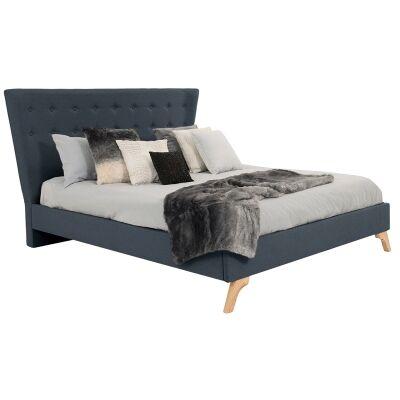 Enterprise Australian Made Fabric Bed, Queen Size, Slate