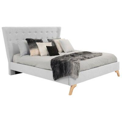 Enterprise Australian Made Fabric Bed, King Size, Smoke
