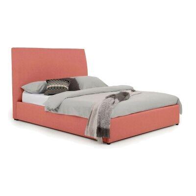 Eric Australian Made Plain Fabric Bed, Queen Size, Terracotta