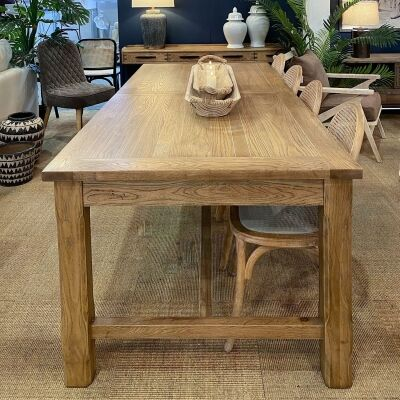 Bray Oak Timber Extendable Dining Table, 210-260cm