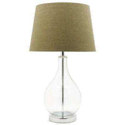 Gina Glass Base Table Lamp - Green