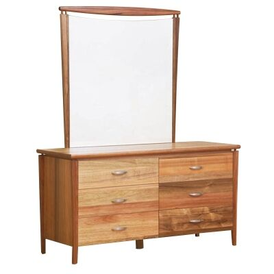 Glendale Dresser with Mirror in Blackwood