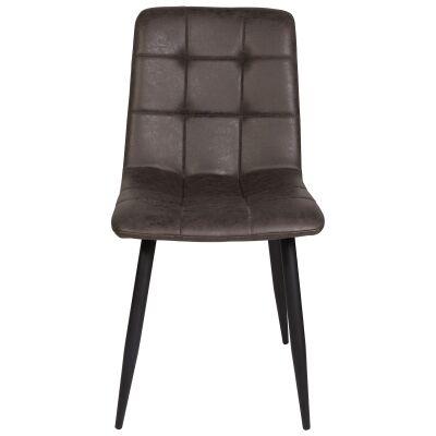 Searl Ultrasuede Fabric Dining Chair, Grey