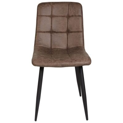 Searl Ultrasuede Fabric Dining Chair, Taupe