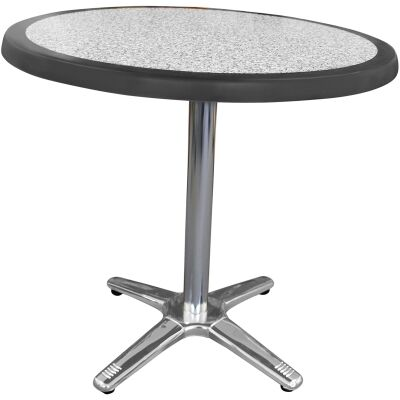 Amolaro Commercial Grade Round Dining Table, 70cm, Pebble