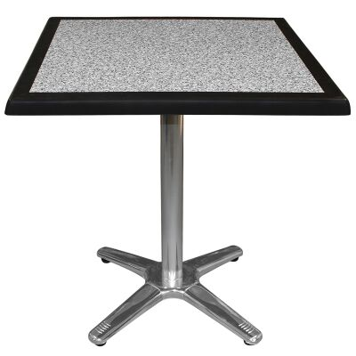 Amolaro Commercial Grade Square Dining Table, 80cm, Pebble