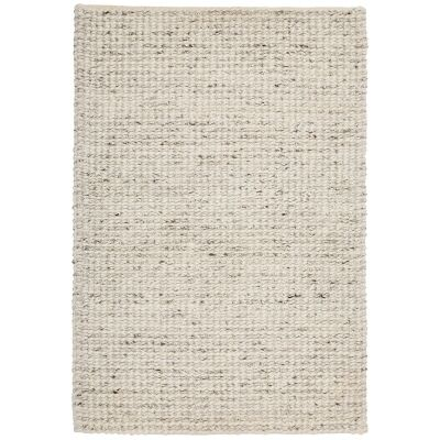 Knight Wool Rug, 225x155cm, Cream / White