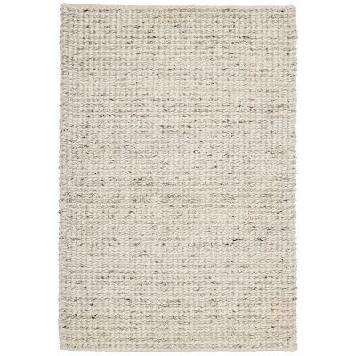 Knight Wool Rug, 160x110cm, Cream / White
