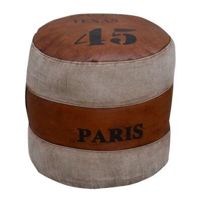 Texas Paris 45 Round Ottoman