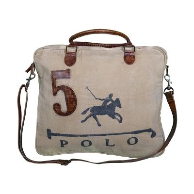 Polo Vintage Hand Made Canvas Satchel Bag