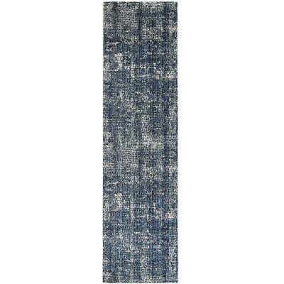 Roman Kajetan Mosaic Modern Runner Rug, 300x80cm, Grey / Blue