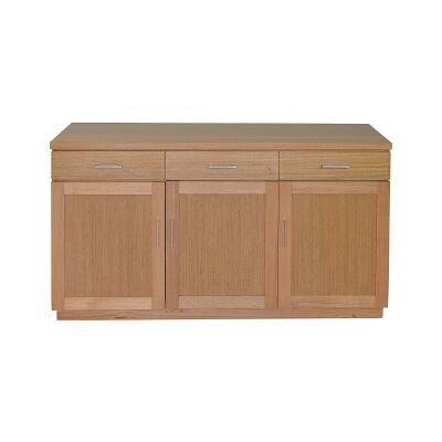 Moselia Tasmanian Oak Timber 3 Door 3 Drawer Buffet Table, 150cm, Wheat