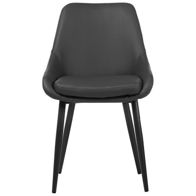 Frobisher Faux Leather Dining Chair, Grey